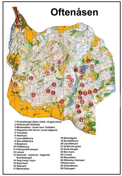 oftenåsen kart Kart over oftenåsen   Lerkehaug og Oftenåsen oftenåsen kart