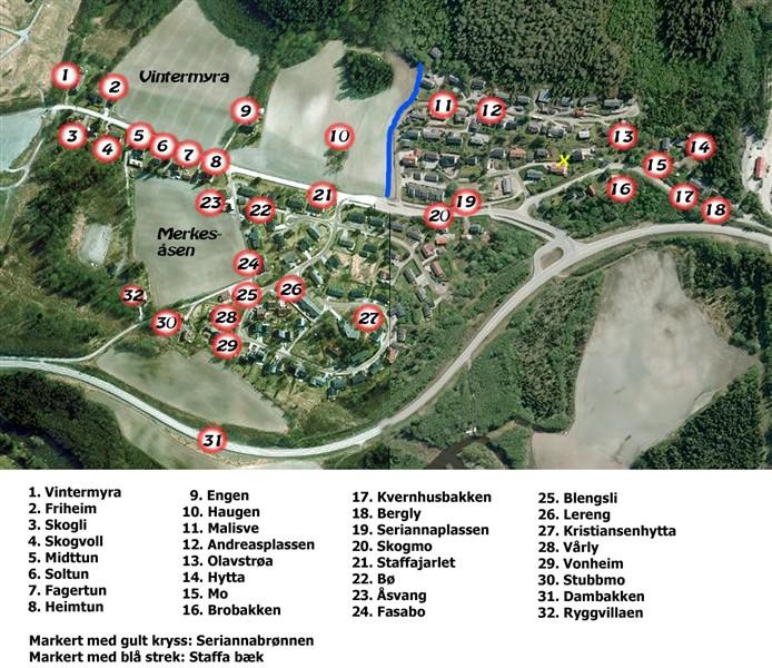 oftenåsen kart Navnekart   Lerkehaug og Oftenåsen oftenåsen kart